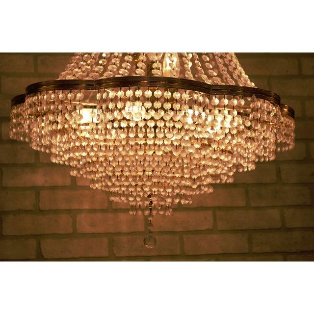 Glass Vintage Swarovski Crystal Chandelier For Sale - Image 7 of 12