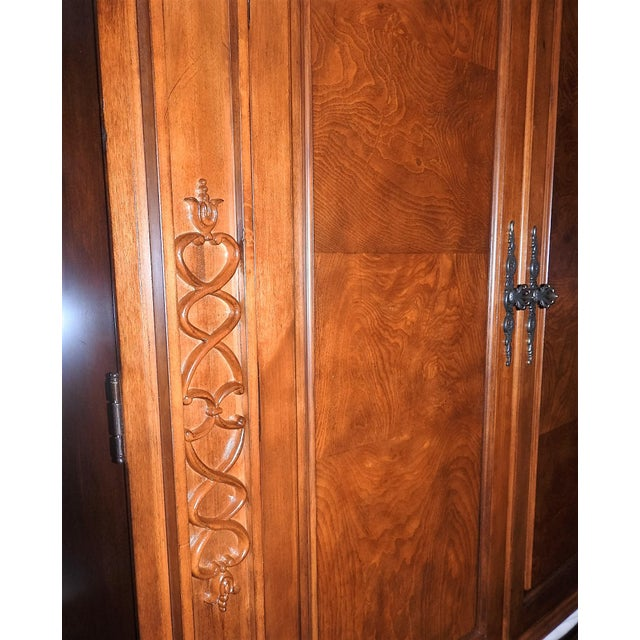 Luxury Cherry Tv Armoire & Dresser Set - Image 6 of 11
