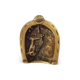 English Equestrian Brass Catchall For Sale