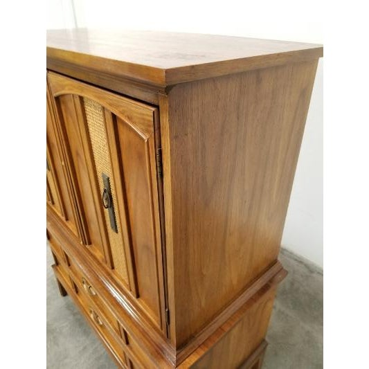 1960s Dixie Mid-Century Highboy Dresser For Sale - Image 9 of 13