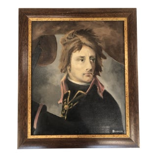 Young General Napoleon Bonaparte, Signed Oil by French Artist For Sale