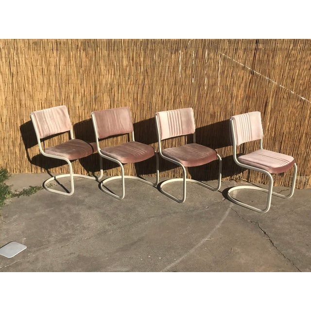 Knoll 1960s Vintage Marcel Breuer by Knoll Pink Dining Chairs- 4 Pieces For Sale - Image 4 of 8