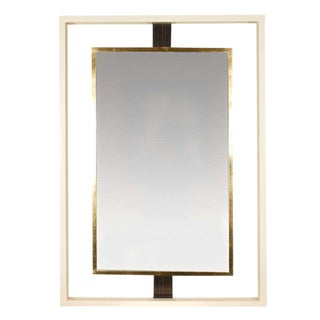 Paul Marra Negative Space Mirror with Horse Hair For Sale