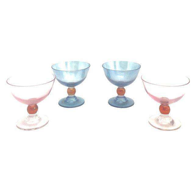 Blue & Pink Parfait Dishes - Set of 4 - Image 1 of 7