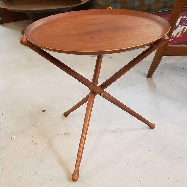 1950s 1950s Swedish Ary Fanerprodukter Nybro Teak Tray Table For Sale - Image 5 of 8