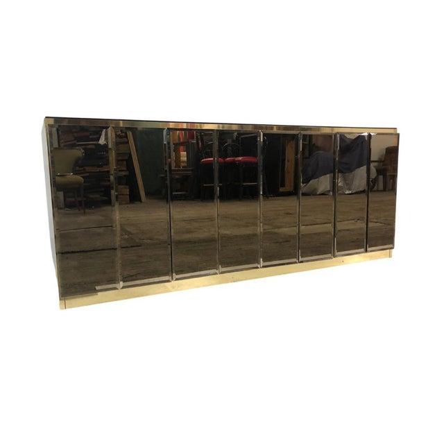 1980s 1980s Ello Smoky Mirrored Credenza For Sale - Image 5 of 5