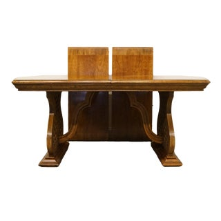 American of Martinsville European Old World Style Dining Table For Sale