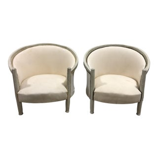 Vintage Upholstered French Provincial Chairs - A Pair For Sale
