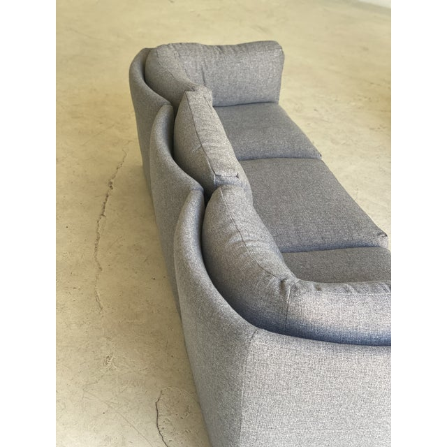 Mid-Century Modern Milo Baughman Scalloped Back Modular Sectional Sofas - A Pair For Sale - Image 3 of 10