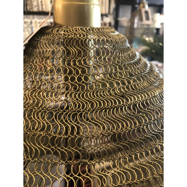 Kenneth Ludwig Chicago Copper Mesh Pendant from Kenneth Ludwig Home For Sale - Image 4 of 6