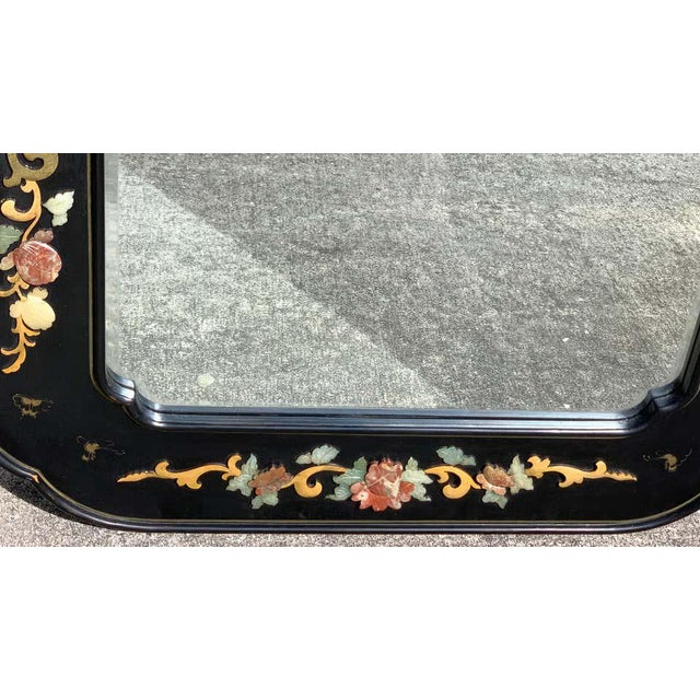 Chinese Chinese Export Lacquer and Hardstone Mirror For Sale - Image 3 of 7