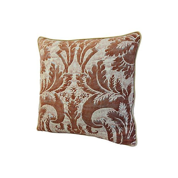 "Belle Epoque 24"" X 22"" Custom Tailored Italian Mariano Fortuny Glicine Feather/Down Pillow For Sale - Image 3 of 9"