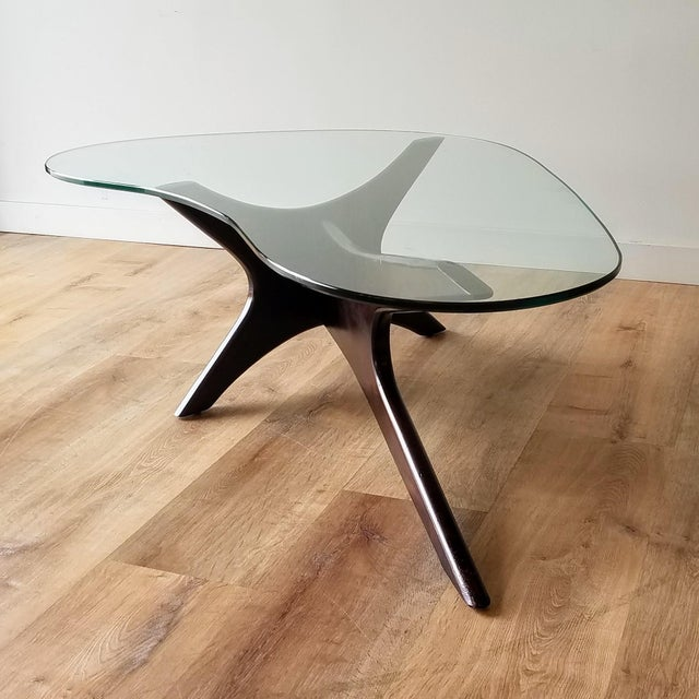 1960s Adrian Pearsall Model 1465-T Boomerang Walnut Coffee Table, Unmarked For Sale - Image 13 of 13