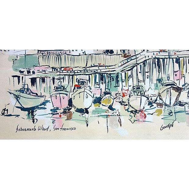 Watercolor of Fishermen's Wharf, San Francisco - Image 2 of 3
