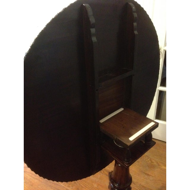 Georgian Rosewood Tilt-Top Pedestal Table - Image 5 of 11