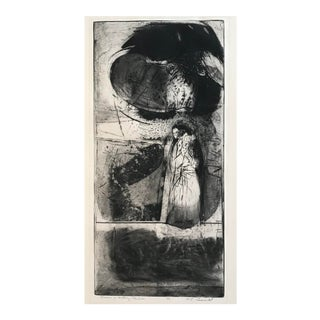"1960s ""Dreaming of Walking a Thin Line"" Aquatint Print For Sale"