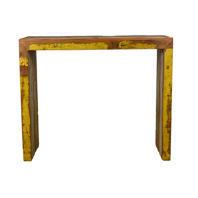 "Reclaimed Wood Balcony Bar Table / High Console 47"" Long - Image 2 of 5"