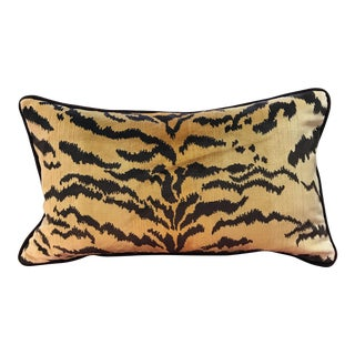 Scalamandre Le Tigre Velvet Mohair Lumbar Pillow