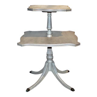 Patined 2-Tier Table For Sale