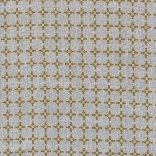 Greige CanCan Fabric, 3 Yards, Wheat on Oatmeal in Linen For Sale