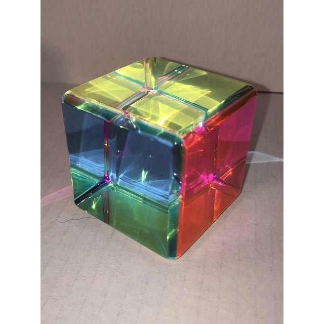 Acrylic Prism Cube by Vasa For Sale - Image 9 of 9