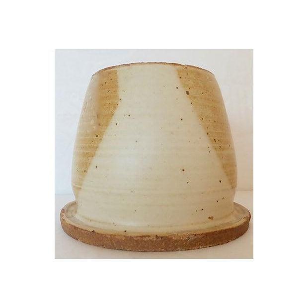 Boho Chic Handmade Signed Art Pottery Vase/Bowl For Sale - Image 3 of 5