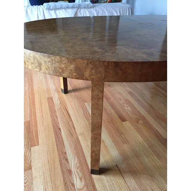 Mid-Century Modern Mid-Century Modern Burlwood Dining Table For Sale - Image 3 of 13