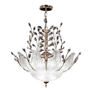 James R. Moder Florian 12 Light Gold Chandelier Ceiling Light For Sale