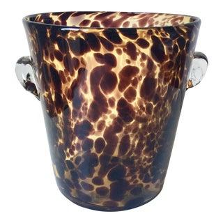 Hand-Blown Glass Tortoise Shell Ice Bucket