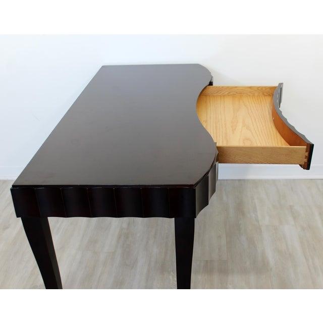 Baker Furniture Company Contemporary Modernist Barbara Barry for Baker Black Lacquer Vanity Desk For Sale - Image 4 of 7
