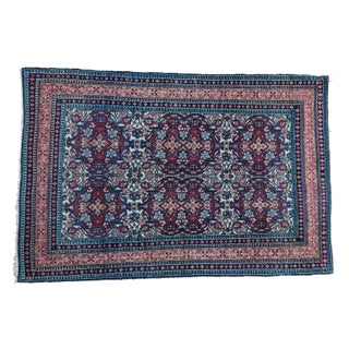 "Antique Isfahan Rug - 3'1"" X 4'8"""