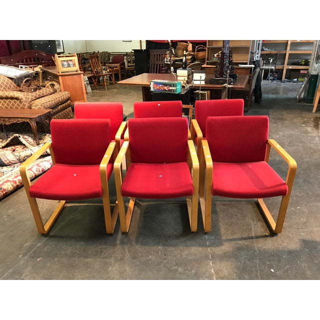 J.G. Furniture Red Laminate Chairs -Set of 6 - Image 2 of 11
