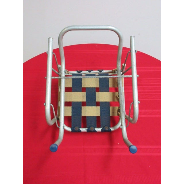 Vintage Mid Century Child's Aluminum Glider Porch Patio Chair - Image 4 of 7