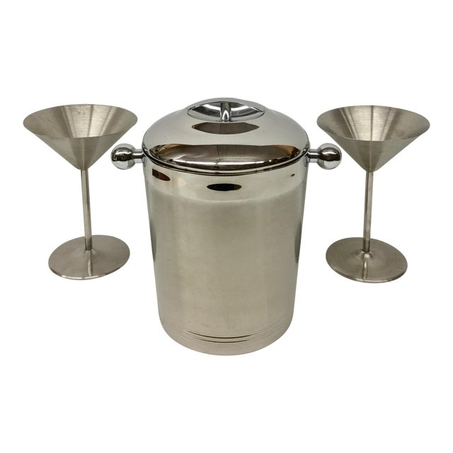 1960s Vintage Stainless Copco Martini Set - 3 Pieces For Sale