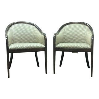 Bernhardt Ward Mid-Century Modern Bennett Style Arm Chairs - a Pair For Sale