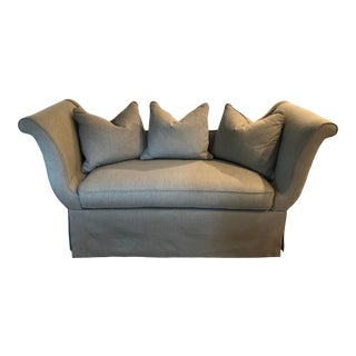 Custom Upholstered Settee From Hickory White Furniture For Sale