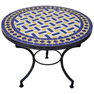 Moroccan Mosaic Side Table For Sale