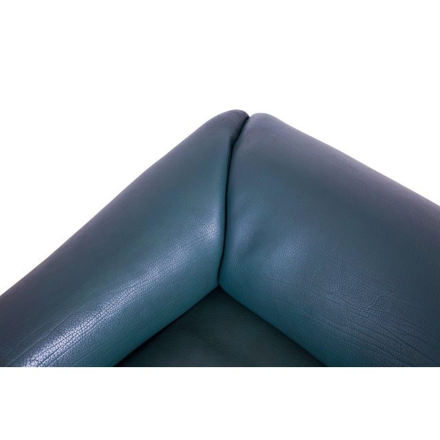De Sede DS 47 Sofa in Petrol Green Leather For Sale - Image 11 of 12