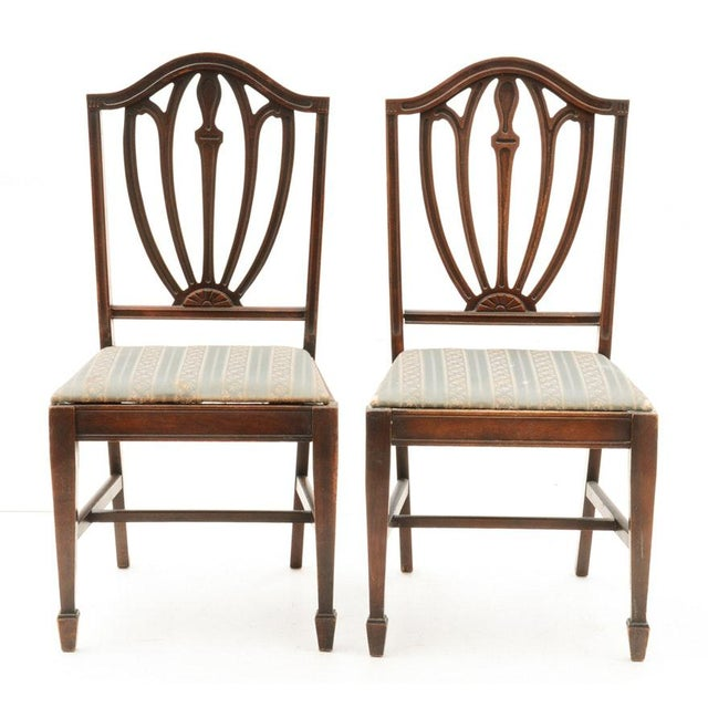 Vintage Duncan Phyfe Style Dining Chairs - Set of 5 - Image 4 of 7