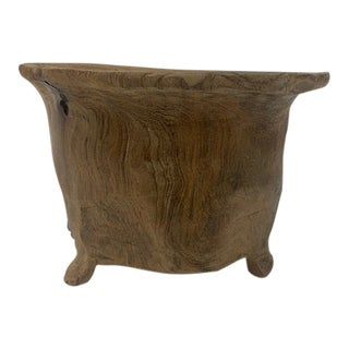Late 19th Century Indonesian Jempinis Wood, Footed Vessel For Sale