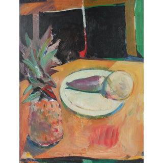 """Jack Freeman """"Turnip"""" Still Life With Pineapple, Oil Painting, 1973 1973 For Sale"""