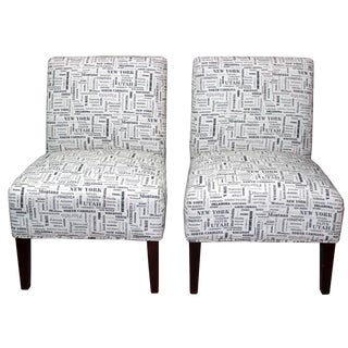 USA State Slipper Chairs - A Pair For Sale