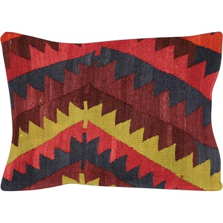 "Nalbandian - 1960s Turkish Kilim Pillow - 15"" X 23"" For Sale"