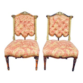 Storybook Petite Tasseled Chairs - a Pair For Sale