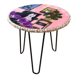 Contemporary Style J J Justice Side Table For Sale