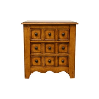 Hekman Furniture Rustic Country Style Three Drawer Chairside Chest or Nightstand For Sale