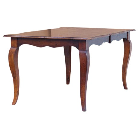 Extendable Parquet-Style Dining Table - Image 1 of 10