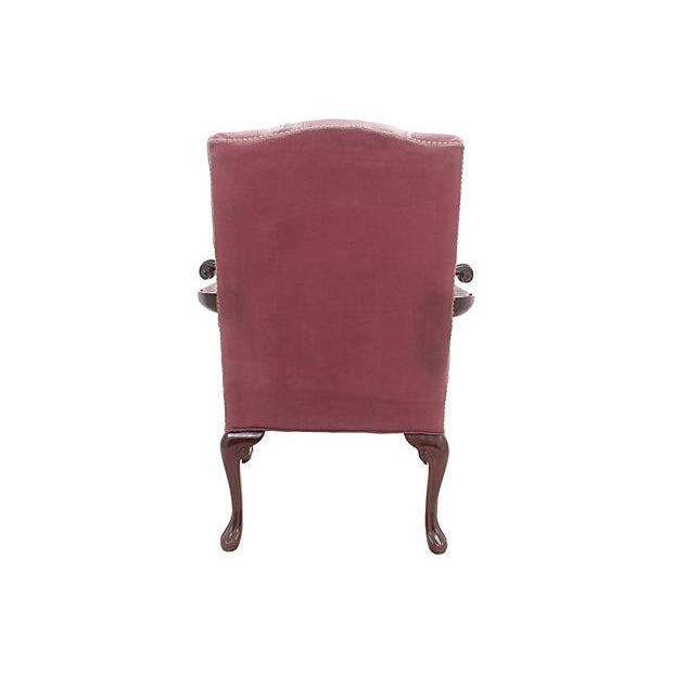 Leathercraft Maroon Tufted Executive Chair - Image 6 of 7