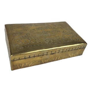 1960s Boho Chic Etched Brass Box