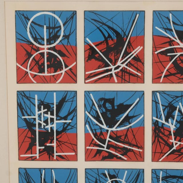 Mid-Century Modernist Screenprint by Jimmy Ernst Untitled For Sale - Image 4 of 11